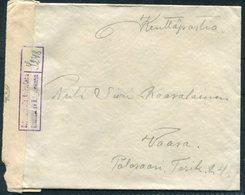 1941 Finland Kenttapostia Censor Cover Vasa - Finland