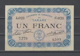 Chambre De Commerce De TARARE  Billet De 1.00F - Chamber Of Commerce