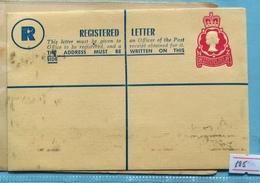 New Zealand Q E II Registered Cover 18 C - Postal Stationery