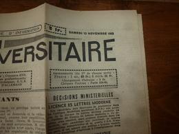 1943 INFO-UNI:Surveillance Des Réfugiés;Français ! Vous Devez Maintenant Apprendre L'Allemand,1ere Langue Nationale;etc - Newspapers