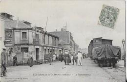 LES SABLES D'OLONNE (Vendée ) :La Poissonnerie - Les Quais Animés -le Train ( 1906) - Sables D'Olonne