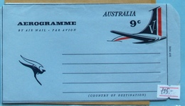 Australia Q E II Aerogramme 9 C - Luftpostleichtbriefe