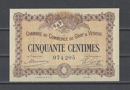 Chambre De Commerce De GRAY Et VESOUL  Billet De 50c - Chambre De Commerce