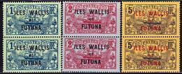 ** WALLIS ET FUTUNA - ** - N°15/17 - Paire Vertic. - N°15 Avec Variété Recto/Verso Partiel - TB - Wallis-Et-Futuna