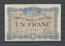 Chambre De Commerce De GRAY Et VESOUL  Billet De 1.00F - Chambre De Commerce