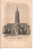 L120B_263 - Toulouse - 15 Abside De L'Eglise Saint-Sernin - Carte Précurseur - Toulouse