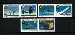Marshall Islands 1987 Sc # 136 / 141  MNH **  Airplanes - Avions - Marshall Islands