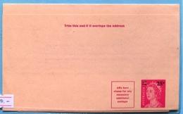 Australia Q E II Wrapper Stationery Ovrp 25 C On 7 C - Postal Stationery