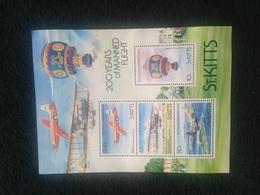 St Kitts Manned Flight Sheetlet Mint - St.Kitts And Nevis ( 1983-...)