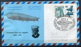 "Germany 1977 Privat Aerogramm Graf Von Zeppelin Mi.Nr.PP ??? Mit SST""Nordholz-MFG 3,FLUGTAG "" 1 Aerogramm Used - Zeppelins"