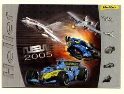 !! Catalogue HELLER 2005 Avec Nouveautés Modélisme Maquettes Avions Autos Motos Bateaux 16 Pages + 4 De Couverture TTB ! - Catalogues
