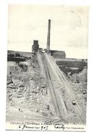 CARRIERE DE L'ERMITAGE A BOIS DE LESSINES 1905 CPA 2 SCANS - Mines