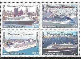 V) 2006 URUGUAY, MARITIME TRANSPORT CRUISE SHIPS AND PORTS, MNH - Uruguay