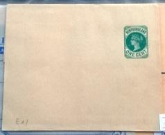 Newfoundland Q V Wrapper Stationery One Cent - Bermuda