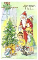 Carte à Système Pop Up Illustrateur J.Lagarde Joyeux Noel Père Noel Enfants Cadeaux Edition JLP Charme N° 8090/2 - Mechanical