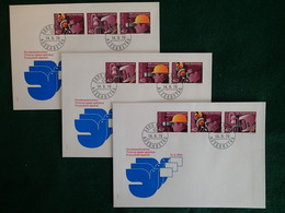 Suisse - 1978 - Z72 - Z73 - Z74 - 3 Enveloppes FDC 14.9.78 - Se-Tenant