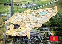 Kyrgyzstan Country Map New Postcard Kirgisistan Landkarte AK - Kyrgyzstan