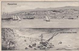 MESSINA-28 DICEMBRE 1908-CARTOLINA VIAGGIATA IL 8-1-1909 - Messina