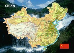 China Country Map New Postcard Landkarte AK - China