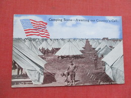 US Camping Scene  Awaiting Our Country's  Call  > Ref 3378 - Militaria