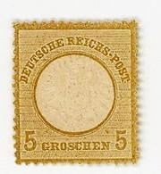 GERMANIA- IMPERO-AQUILA IN RILIEVO SCUDO GRANDE-5 GROSCHEN- Y&T 19 NUOVO **  (13/12) - Allemagne