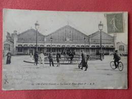 Dep 45 , Cpa  ORLEANS , 19 , La Gare Et Place Albert 1er  (111) - Orleans