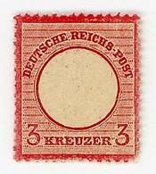 GERMANIA- IMPERO-AQUILA IN RILIEVO SCUDO GRANDE-3 KREUZER- Y&T 22  NUOVO **  (13/13) - Allemagne