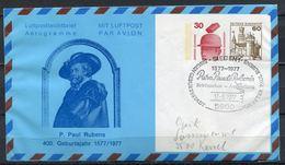 "Germany 1977 Privat Aerogramm P.P.Rubens Mi.Nr.PP ??? Mit SST""Siegen-Geburtsstadt V.P.Paul Rubens "" 1 Aerogramm Used - Rubens"