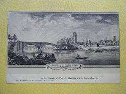 MANTES LA JOLIE. Les Travaux Du Pont Fin Septembre 1764. - Mantes La Jolie