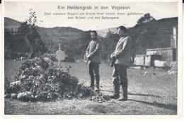 MILITARIA - HELDENGRAB IN DEN VOGESEN 1915 - War 1914-18