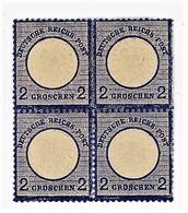GERMANIA- IMPERO- QUARTINA AQUILA IN RILIEVO SCUDO GRANDE-2 GROSCHEN- Y&T 17 NUOVO **/*  (13/15) - Neufs