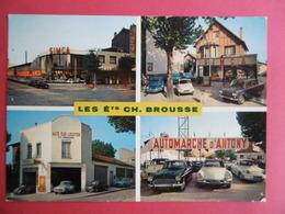 CARTE PUBLICITAIRE BROUSSE  CH  - Concessionnaire Automobile SIMCA  - 190 Av BRIAND  BAGNEUX  ( 92 ) - Passenger Cars
