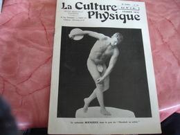 1932 Revue La Culture Physique Culturisme Homme  Cache Sexe Feuille Vigne Menzel Carte Visite Versailles - 1900 - 1949