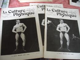 1932 Revue La Culture Physique Culturisme Homme  Klein  Carte Visite Versailles Cache Sexe Feuille Vigne - 1900 - 1949