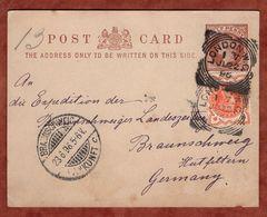 P 7 + ZF Koenigin Viktoria, London Nach Braunschweig 1896 (74203) - Briefe U. Dokumente