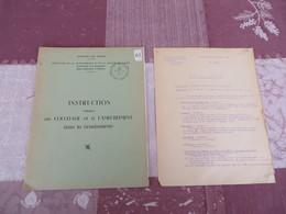 Instruction Relative Au Couchage Et à L'ameublement Dans La Gendarmerie - 61/05 - Books, Magazines, Comics