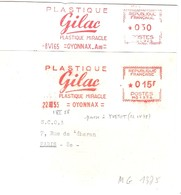 2 EMA FRANCE PLASTIQUE MIRACLE PLASTIC KUNSTSOFF CHIMIE CHEMIE GILLAC WUNDER OYONNAX AIN 1955 1965 CHEMICAL KEMIE - Chemistry