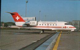 Aviation, Canadair CL 600 Challenger Of Swiss-Air Ambulance At Zürich (8424) - 1946-....: Modern Era