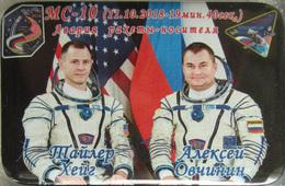 400-10 Space Russian Pin. Spaceship Soyuz MS-10 Hague - Space