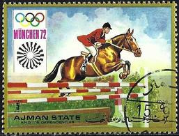 Ajman 1971 - Mi 1228A - YT Pa 120 ( Munich Olympics : Jumping ) Airmail - Ajman