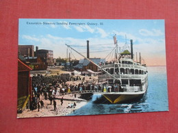 Excursion Steamer Landing Passengers  Quincy Ill. >> Ref 3378 - Steamers