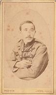 PHOTO CDV 19 EME MILITAIRE SOLDAT  8 SUR LE COL CABINET PROD' HOM  à BONE ALGERIE - Guerra, Militares