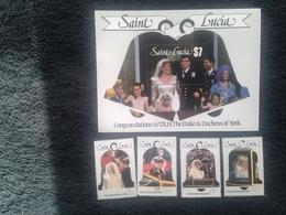 St Lucia Royal Wedding 1986 Mint - St.Lucia (1979-...)