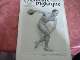 1939 Revue La Culture Physique Culturisme Homme En Discobole - 1900 - 1949