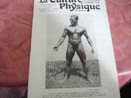 1939 Revue La Culture Physique De Guerre  Culturisme Louis Garbarini - 1900 - 1949
