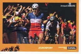 ARNAUD DEMARE SIGNEE CHAMPION DE FRANCE EUROSPORT - Cycling