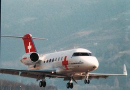 Aviation, Canadair CL 601 Challenger Der Rega Swiss Air-Ambulance (425) 10x15 - 1946-....: Modern Era