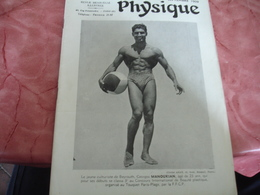 1939 Revue La Culture Physique   Culturisme  Georges Manoukian - 1900 - 1949