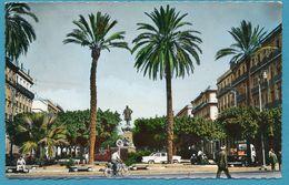 ANNABA - BONE - Cours Bertagna Et Statue Thiers Ford Simca Versailles Renault Galion Photo Véritable Circulé 1961 - Annaba (Bône)