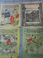 Lot De 4 Revues - 3 De L'Epatant Et L'Intrepide  De 1909 /10 - Newspapers